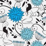предпосылка цветет безшовное Стоковое Фото