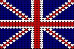 сердце флага Британии большое Стоковое Изображение RF