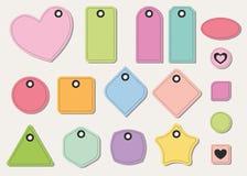 Комплект красочных бирок и стикеров Стоковые Фотографии RF