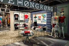 Интерьер международного аэропорта Гонконга Стоковое Изображение