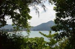 在卡玛拉海滩的看法 普吉岛 库存图片