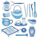 Китайский комплект церемонии чая Стоковая Фотография RF