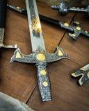 剑的刀柄的细节 免版税库存图片