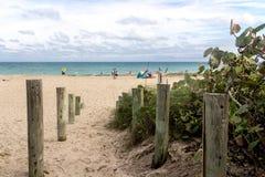 风景佛罗里达延森的海滩 库存图片