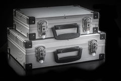 铝金属盒箱子 图库摄影