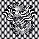 Διακοσμητική εικόνα του παπαγάλου Στοκ φωτογραφίες με δικαίωμα ελεύθερης χρήσης