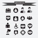 Иллюстрация значка людей установленная Стоковое Изображение