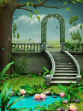 Зеленый свод с лестницами Стоковая Фотография