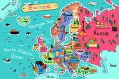 政治大陆欧洲的映射 免版税图库摄影