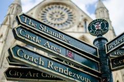 约克大教堂在市约克,约克夏,英国 库存照片