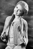 портрет девушки искусства довольно Стоковые Фото