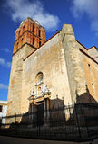 坎德拉里亚角教会,萨夫拉,巴达霍斯,西班牙 图库摄影
