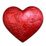 红色心脏石头 库存照片