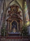 взгляд перспективы собора свода нутряной Стоковая Фотография