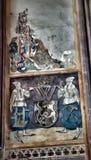 Средневековые настенные живописи в церков Стоковое Фото