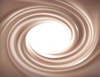 Διανυσματικό υπόβαθρο της στροβιλιμένος σύστασης σοκολάτας Στοκ Φωτογραφία