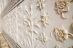 Декоративные элементы созданные путем прикладывать краску, штукатурку, инкрустации камня и резное изображение Стоковое Изображение