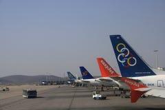 авиакомпании олимпийские Стоковые Фото