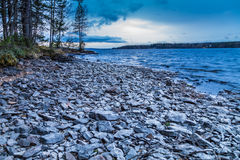岩石海岸线 免版税库存图片
