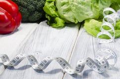 Φυτικό σύνολο τροφίμων αδυνατίσματος υγιές των βιταμινών Στοκ Φωτογραφίες