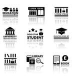 教育设置与反射 免版税库存图片