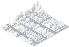 大现代城市 免版税图库摄影