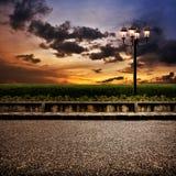 Тротуар вечера Стоковое фото RF