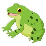 Ευτυχής βάτραχος κινούμενων σχεδίων Στοκ Εικόνα