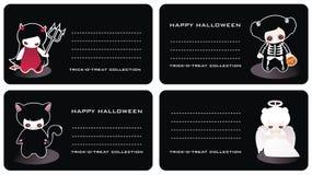 επαγγελματικές κάρτες αποκριές Στοκ Εικόνες