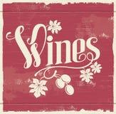 葡萄酒酒标志 库存图片