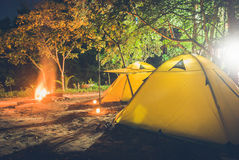 野营的小的帐篷 库存照片