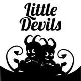 动画片小的恶魔或淘气鬼-导航例证 库存照片