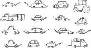被设置的汽车 免版税库存图片