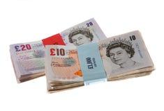 великобританские деньги наличных дег замечают фунт Стоковые Фотографии RF