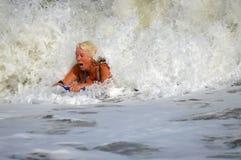 Восхождение на борт буг женщины Стоковое Изображение RF