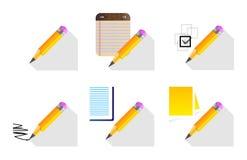 木铅笔集合 免版税库存图片