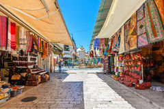 Рынок в старом городе Иерусалима, Израиля Стоковая Фотография RF
