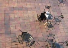 宣扬中断开放企业的咖啡馆 图库摄影