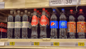 Безалкогольные напитки в супермаркете Стоковое Изображение