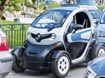 微型巧妙的黑汽车在摩纳哥,法国 库存照片