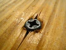 螺丝表面木头 免版税库存图片