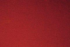 Красный конец текстуры цвета ткани биллиардов бассейна вверх Стоковая Фотография