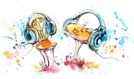 Μουσική φαντασία Στοκ εικόνα με δικαίωμα ελεύθερης χρήσης