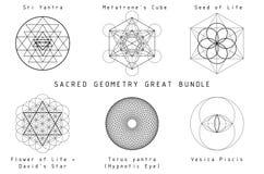 神圣的几何集合 免版税库存图片