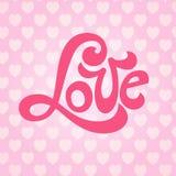 Сердца литерности влюбленности Стоковое Изображение RF