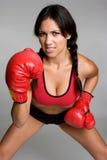 拳击手讲西班牙语的美国人 库存照片