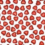 心脏的无缝的样式在白色的 免版税库存图片