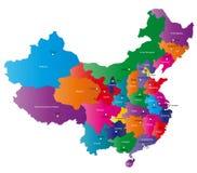 Карта Китая Стоковое Изображение RF