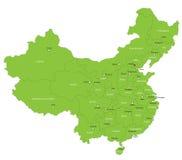 Карта Китая вектора Стоковое Изображение RF