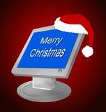 圣诞节计算机 免版税库存图片